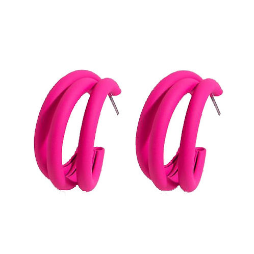 Hot Pink Chunky Hoop