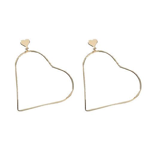 Gold Lg Heart Hoop
