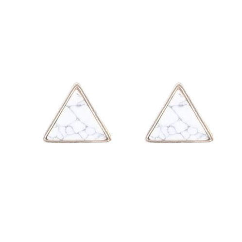 Tiny Triangle Marble Stud