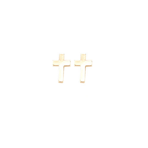 Mini Gold Cross Studs