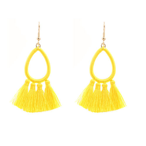 Mini Tassel Teardrop Yellow
