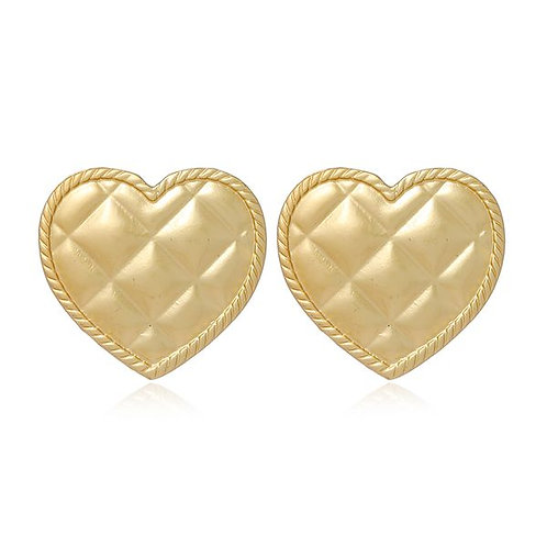 Gold Quilted Heart