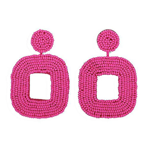 Beaded Square Pink