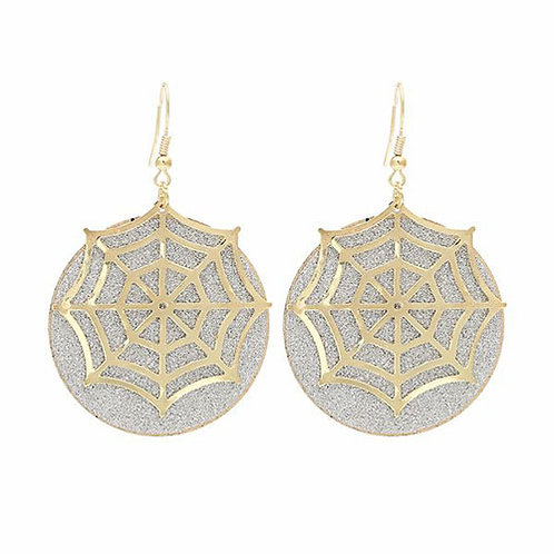 Spider Web - Gold on Silver
