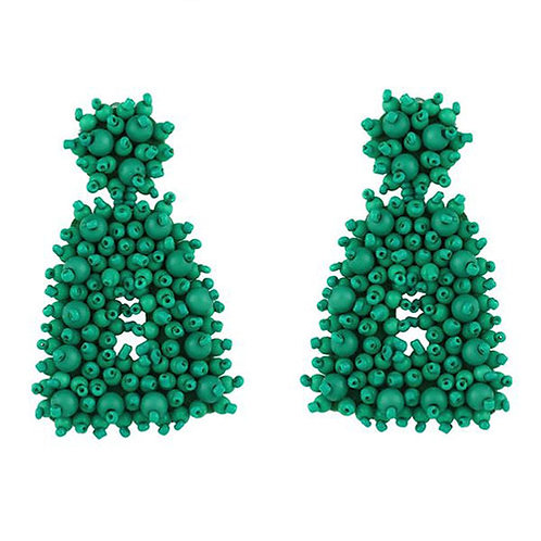 Speckled Beaded Green