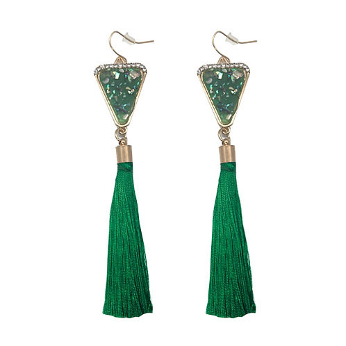Confetti Tassel Emerald Green