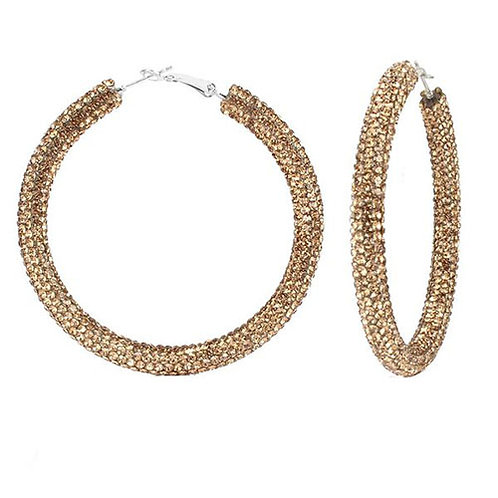 Bronx Gold Sparkle Hoops