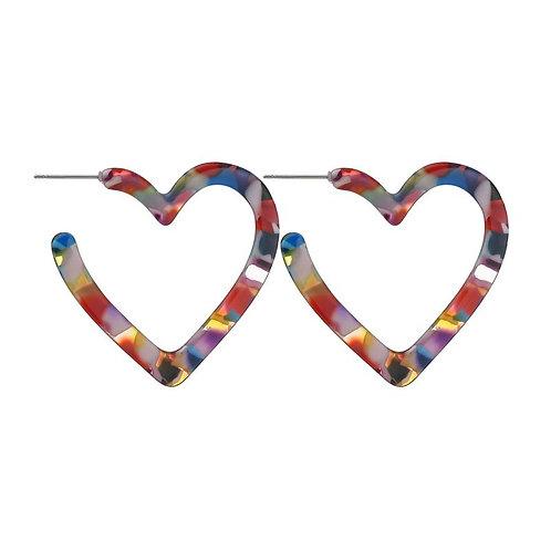 Multi Celluloid Heart