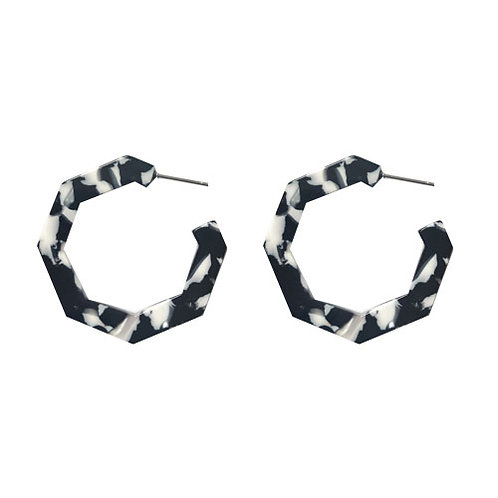 Small Hexagon Cow Hoops