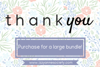 Thank You Gift Card - Large Bundle