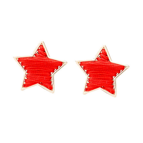 Red Stitched Stars