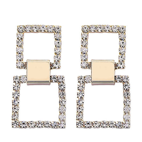 Mini Double Square Bling