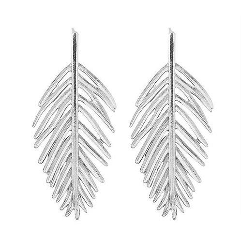 Silver Metal Leaves