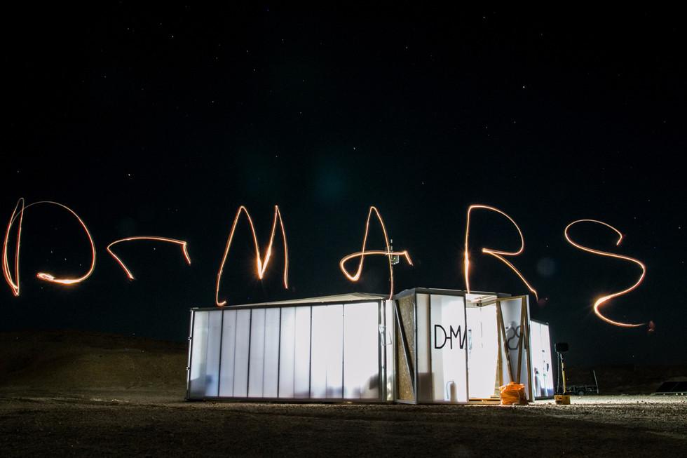 D-MARS Habitat at night
