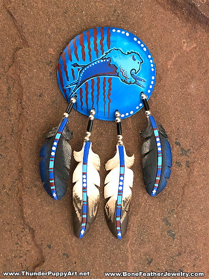 Blue Buffalo Shield Pendant
