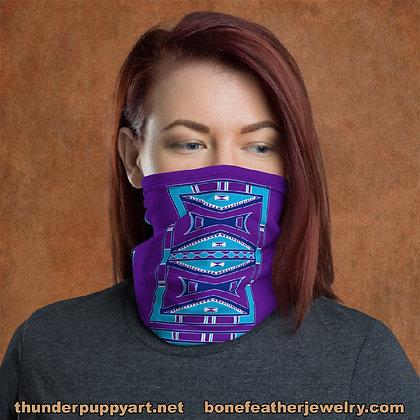 Purple Parfleche Design Neck Gaiter