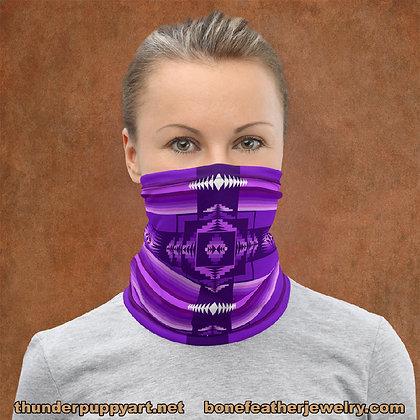Purple Pendleton Style Neck Gaiter