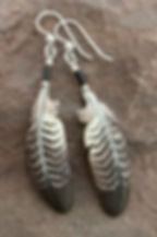 Red-tailed Hawk Secondary Earrings-Thund