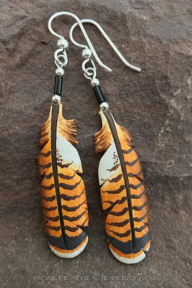 Red Tail Hawk Tail Bone Feather Jewelry