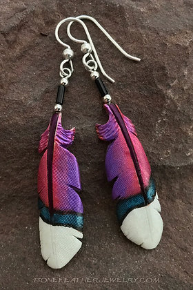 Jamaican Mango Hummingbird Bone Feather Jewelry