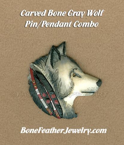 Gray Wolf Head 2015-Lonny Cloud-Thunder