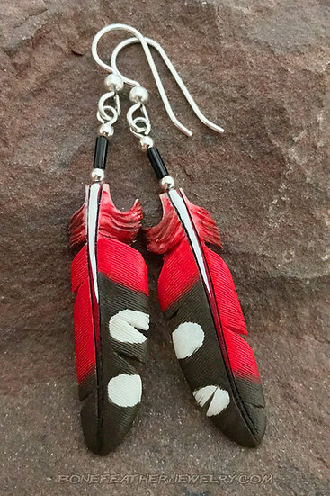 Wallcreeper Primary Bone Feather Jewelry