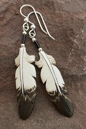 Golden Eagle Bone Feather Jewelry