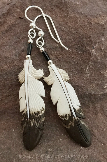 Golden Eagle Bone Feather Jewelry