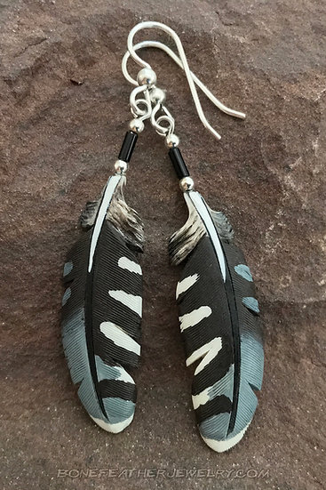 American Kestrel Secondary Bone Feather Jewelry