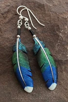 Broad-Billed Hummingbird Bone Feather Jewelry
