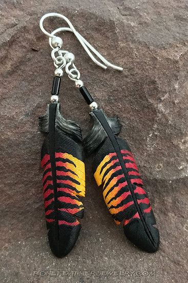 Red-Tailed Black Cockatoo Female Tail Bone Feather Jewelry