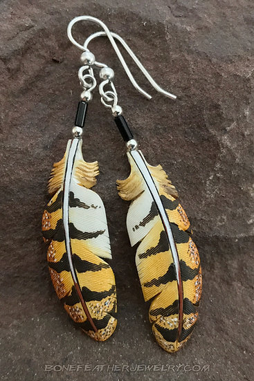 Barn Owl Secondary Bone Feather Jewelry
