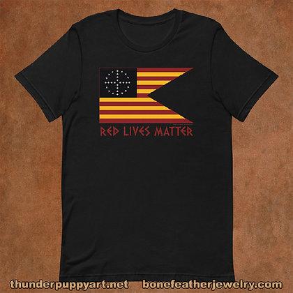 Red Lives Matter Guidon Short-Sleeve Unisex T-Shirt