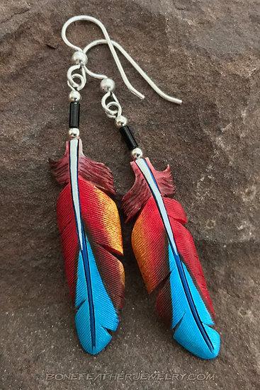 Buffon Macaw Bone Feather Jewelry