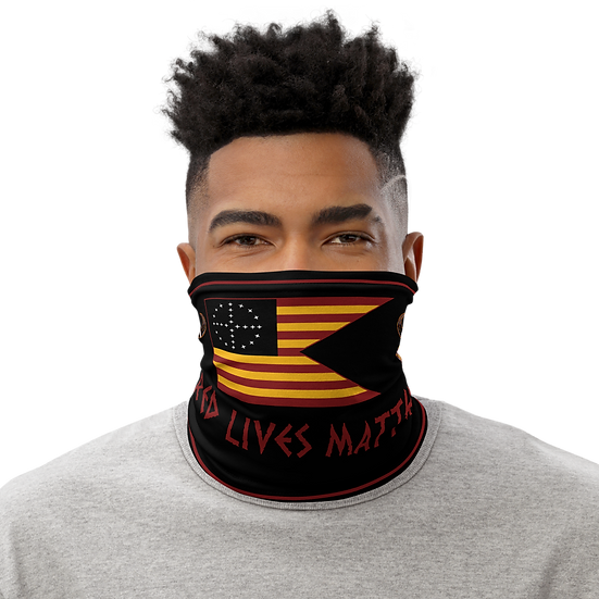 Red Lives Matter Guidon Neck Gaiter
