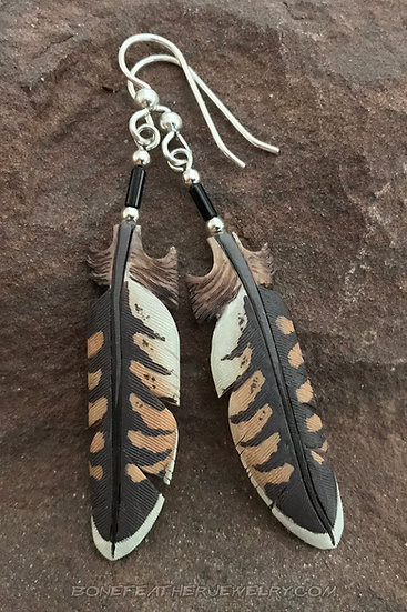 Prairie Falcon Tail Bone Feather Jewelry