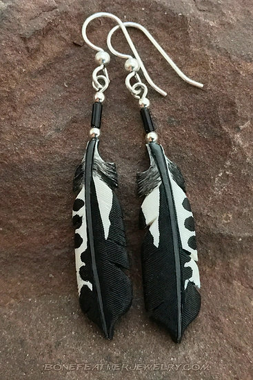Red-Bellied Woodpecker Tail Bone Feather Jewelry