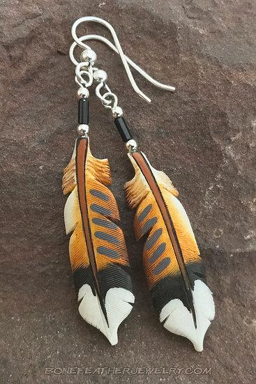 Killdeer Tail Feather Earrings