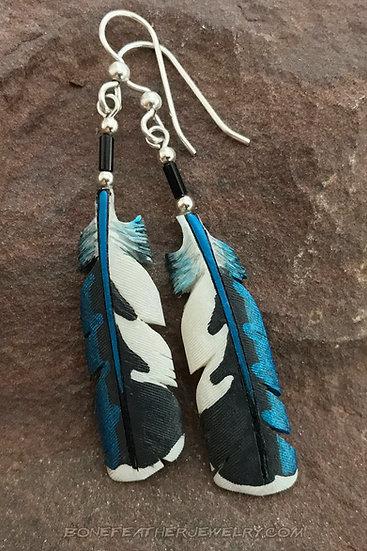 Ringed Kingfisher Secondary Bone Feather Jewelry