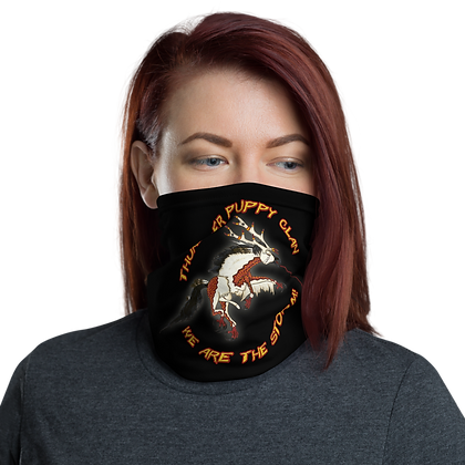 We Are The Storm! Thunder Puppy Art Neck Gaiter