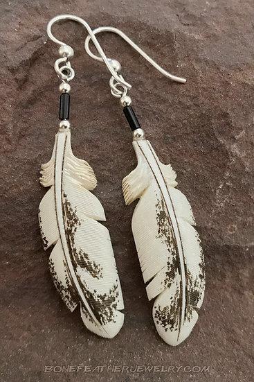 Immature Bald Eagle Light Bone Feather Jewelry