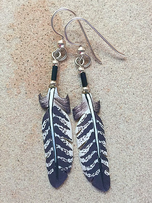 Wild Turkey Primary Feather Bone Feather Jewelry