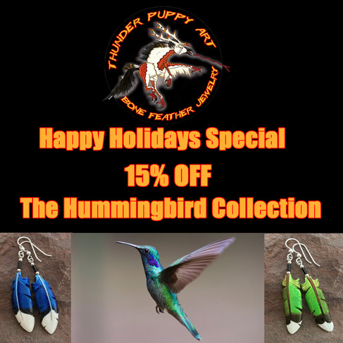 Hummingbird Feather Bone Jewelry