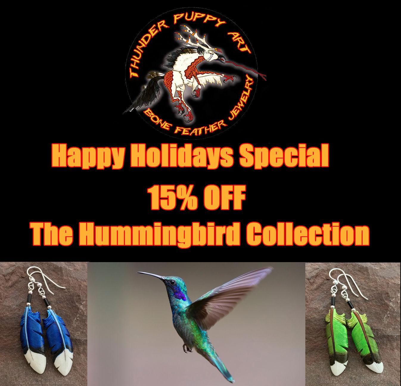 hummingbird feather bone jewelry