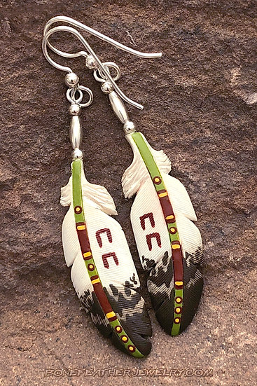 Golden Eagle Sage w-Horse Tracks Bone Feather Jewelry