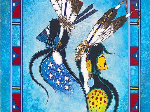 Dakota Warrior Spirits Painting