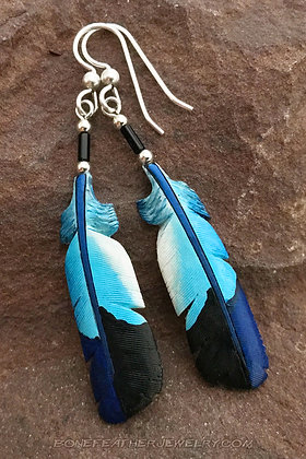 Lilac-Breasted Roller Secondary Bone Feather Jewelry