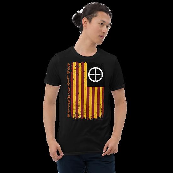 Red Lives Matter Grunge Flag Short-Sleeve Unisex T-Shirt