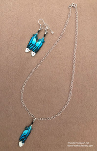 Single feather on Sterling Necklace