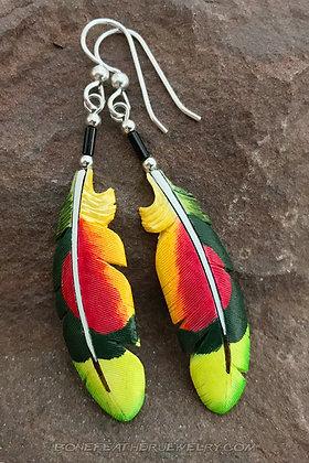 Amazon Parrot Bone Feather Jewelry